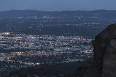Notte di Chatsworth California Immagine Stock