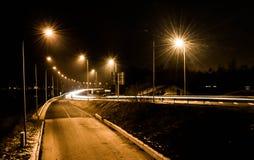 Notte di Daugavpils Fotografia Stock