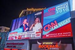 Notte di elezione a Las Vegas immagine stock