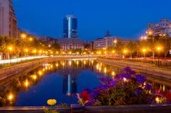 Notte di estate a Bucarest Fotografie Stock Libere da Diritti