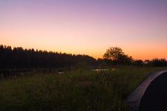 Notte di estate del nord immagini stock libere da diritti
