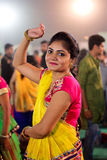 Notte di Garba su Navratri - l'India Fotografie Stock