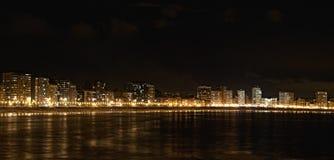 Notte di Gijon. Fotografia Stock
