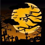 Notte di Halloween Immagini Stock