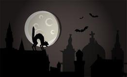 Notte di Halloween in città Immagini Stock