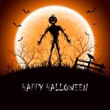 Notte di Halloween con il mostro Immagini Stock