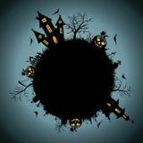 Notte di Halloween della priorità bassa Fotografia Stock Libera da Diritti