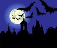 Notte di Halloween nella città Immagine Stock