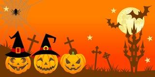 Notte di Halloween, orizzontale royalty illustrazione gratis
