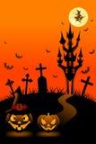 Notte di Halloween, verticale illustrazione vettoriale