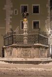 """Notte di inverno molla dell'aquila nel †di Regensburg """" Immagini Stock"""