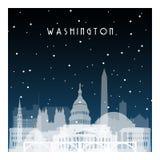 Notte di inverno a Washington Fotografie Stock
