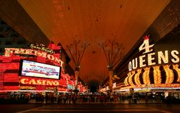 Notte di Las Vegas Fremont Streetat a Las Vegas, Nevada Il Nevada U.S.A. Fotografie Stock