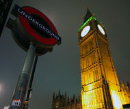 Notte di Londra fotografie stock libere da diritti