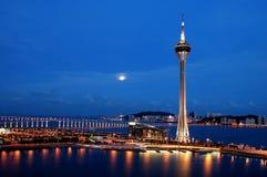 Notte di Macau Fotografia Stock