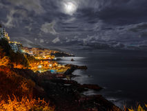 Notte di Madeira Immagine Stock Libera da Diritti