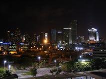 Notte di Miami Fotografie Stock