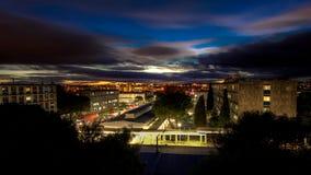 Notte di Montpellier Immagini Stock