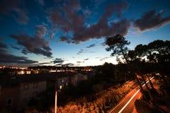 Notte di Montpellier Immagine Stock