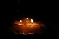 Notte di natale della candela Immagine Stock Libera da Diritti