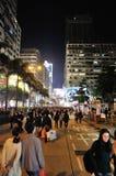 Notte di Natale a Hong Kong Fotografia Stock