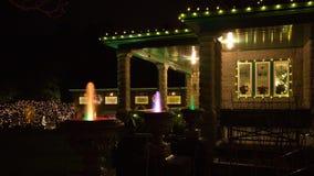 Notte di Natale nei giardini di Butchart Fotografia Stock Libera da Diritti
