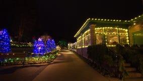 Notte di Natale nei giardini di Butchart Fotografie Stock