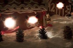 Notte di Natale nel villaggio del miele-cacke Immagine Stock Libera da Diritti