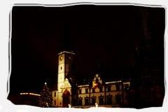 Notte di Natale in Olomouc immagini stock libere da diritti