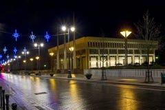 Notte di natale a Vilnius Fotografie Stock
