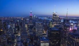 Notte di New York Fotografia Stock