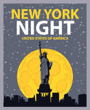 Notte di New York Fotografia Stock Libera da Diritti