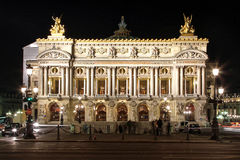 Notte di opera di Parigi Fotografia Stock