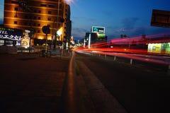 Notte di Osaka fotografie stock libere da diritti