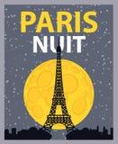 Notte di Parigi Fotografie Stock Libere da Diritti