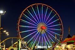 Notte di San Diego County Fair Scene At Fotografia Stock Libera da Diritti