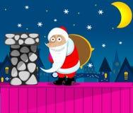 Notte di San Silvestro del Babbo Natale Fotografia Stock Libera da Diritti