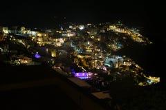Notte di Santorini - Grecia immagini stock libere da diritti