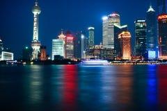 Notte di Schang-Hai Fotografie Stock Libere da Diritti