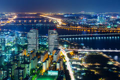 Notte di Seoul fotografia stock