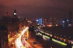 Notte di Shanghai Immagini Stock Libere da Diritti