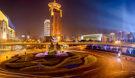 Notte di Shanghai Immagini Stock