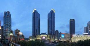 Notte di Shanghai Xujiahui immagine stock libera da diritti