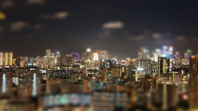 Notte di Singapore Fotografia Stock Libera da Diritti