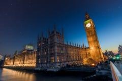 Notte di Stary a Big Ben Fotografie Stock Libere da Diritti