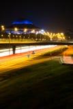 Notte di Stoccolma, Svezia fotografia stock libera da diritti
