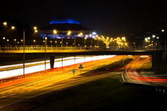 Notte di Stoccolma, Svezia fotografia stock