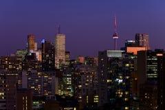 Notte di Toronto fotografie stock