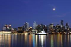 Notte di Vancouver, Canada Immagine Stock