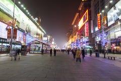 Notte di Wangfujing Immagini Stock Libere da Diritti